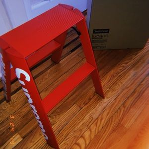 Sensational Authentic Supreme X Lucano Step Ladder Caraccident5 Cool Chair Designs And Ideas Caraccident5Info